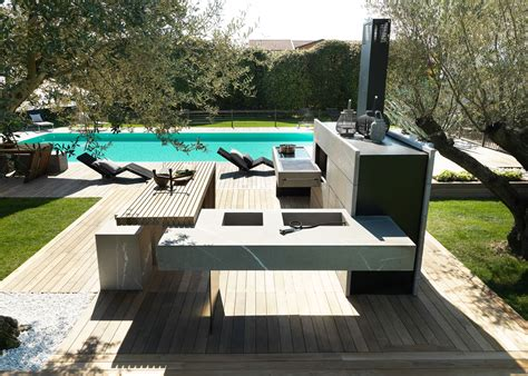 wood burning pit table bring the inside outside with the modulnova outdoor kitchen