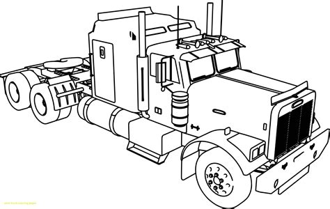 peterbilt semi truck coloring pages gallery coloring
