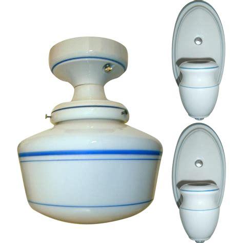 ceramic light fixture vintage set alabax porcelain light fixtures from