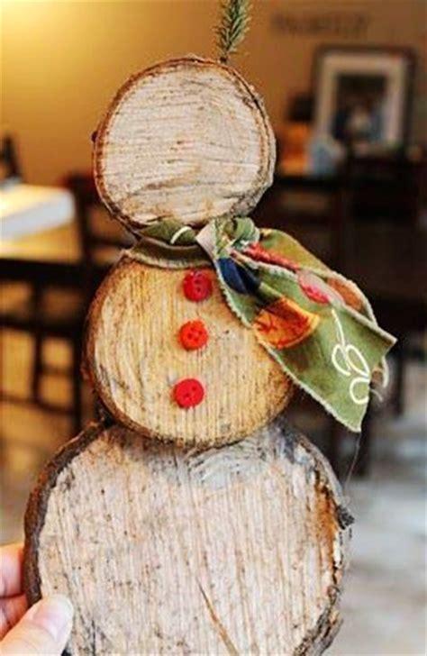 log snowman christmas crafts rustic christmas ornaments