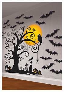 Spooky halloween indoor decor indoor wall decorating kit for Halloween wall decorations