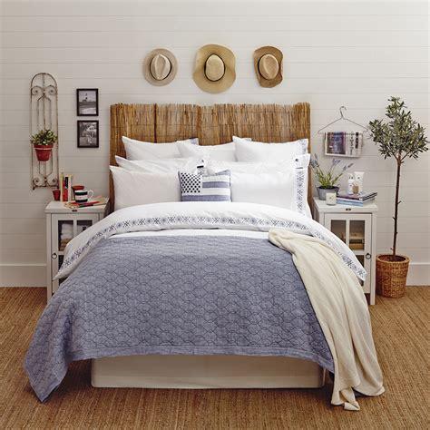 Buy Lexington Poplin Duvet With Embroidery Whiteblue
