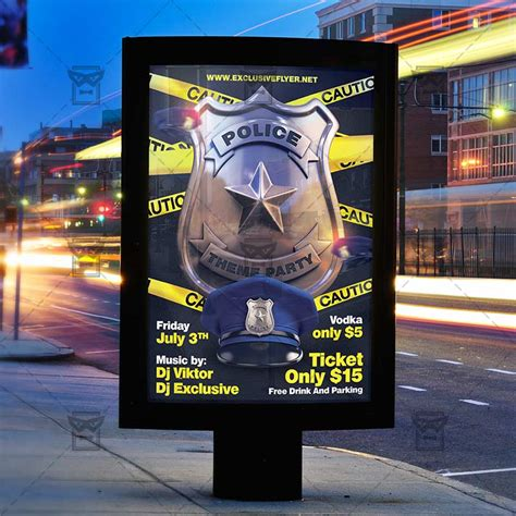 police theme party premium  flyer template