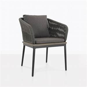 Oasis, Outdoor, Dining, Chair, Coal