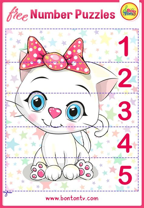 number puzzles  preschool printables  kids