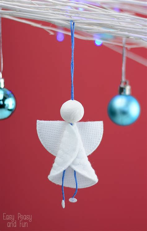 easy ornaments easy to make angel christmas ornaments kayteejanes house homemade ornaments christmas craft