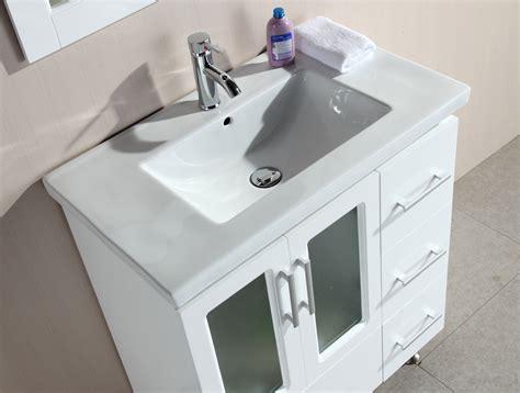 Stanton Inch Contemporary White Bathroom Vanity Set