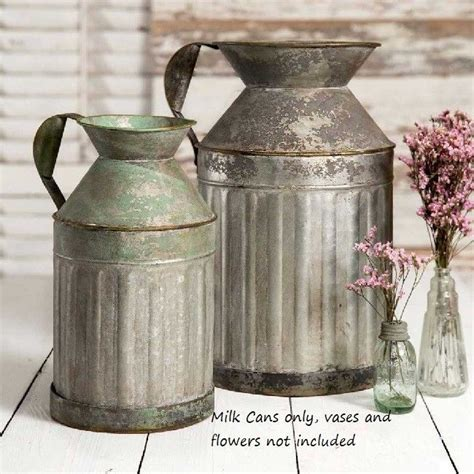 Vintage Metal Milk Can Shop Collectibles Online Daily