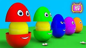 Learn colors Learn shapes Surprise eggs - 3D Cartoons for ...
