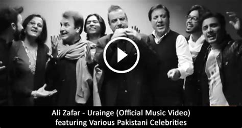 ali zafar urainge official  video featuring