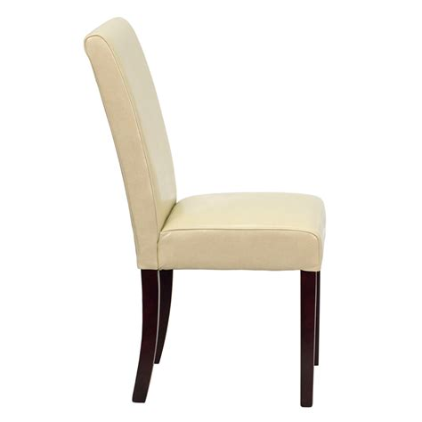 ivory leather parsons chair bt 350 ivory 050 gg by flash