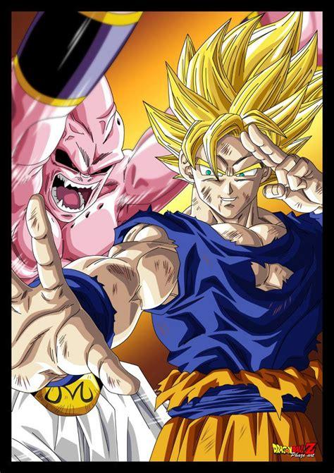 Majin L Vs Goku by The Gallery For Gt Z Majin Buu Vs Goku