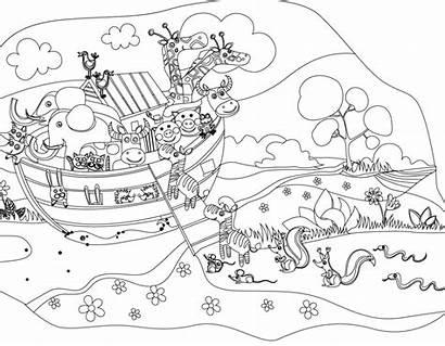 Ark Coloring Noah Noahs