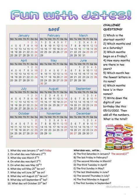 dates worksheet free esl printable worksheets made by