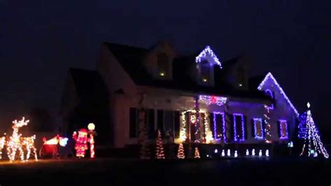wizards in winter christmas light show youtube