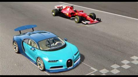 Ferrari F1 2017 Vs Bugatti Chiron