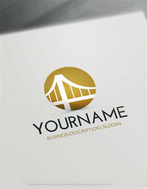logo maker suspension bridge logo design