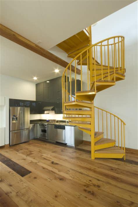 spiral staircase for loft artist s loft spiral stairs modern staircase portland by ivon street studio