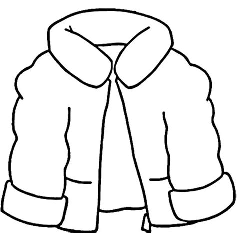 jacket  wear   snow winter coat coloring page