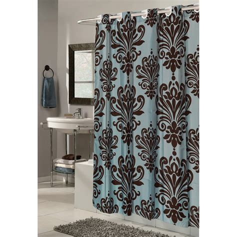 carnation home fashions ez  grommet damask fabric shower