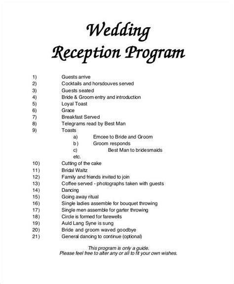 exles of wedding programs templates 6 wedding programs free sle exle format sle templates