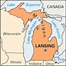 Lansing: location -- Kids Encyclopedia   Children's ...