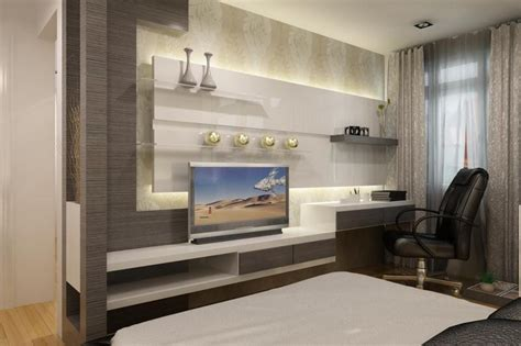 Modern Living Room With Tv by Of Late Modern Wall Tv Unit In Master Bedroom Designs