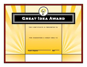 great idea award freeology