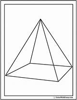 Pyramid Coloring Pages Shape Square Base Triangles Triangular Squares Circles Template Colorwithfuzzy sketch template