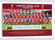 Framed Liverpool FC Team Photo 2017 2018 Season Poster
