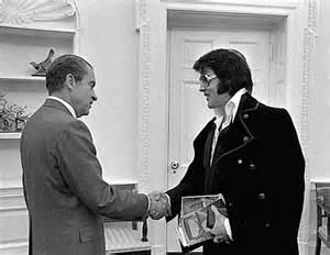 Nixon and Elvis Presley