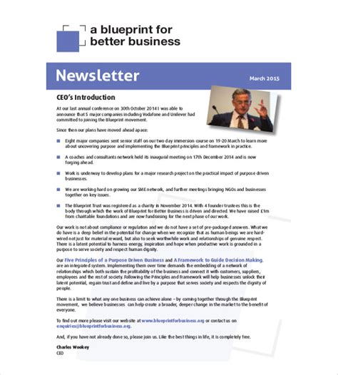 business newsletter templates 10 business newsletter templates free sle exle format free premium