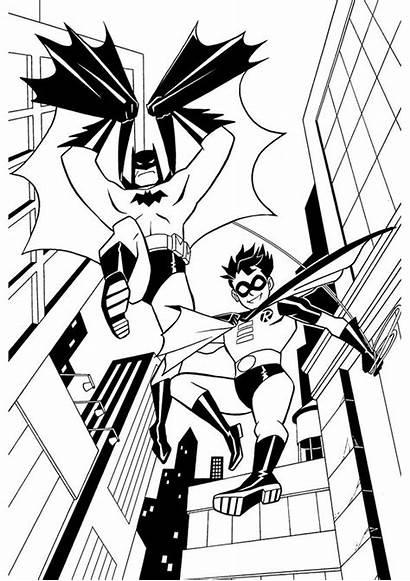 Robin Batman Coloring Pages Printable Clipart Cliparts