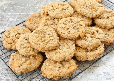 oatmeal butterscotch cookies soft and chewy oatmeal butterscotch cookies barefeetinthekitchen com