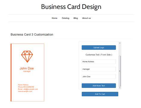 business card design app business card design ecommerce plugins for stores
