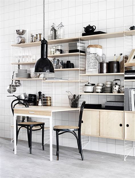 String Regal Küche tisch erweiterung f 252 r das quot string quot regal
