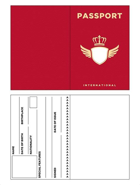 Passport Template 10 Passport Templates Free Word Pdf Documents
