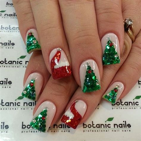 1000 ideas about christmas tree nails on pinterest nail