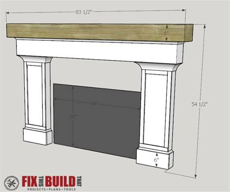 build fireplace mantel how to build a fireplace surround and mantel