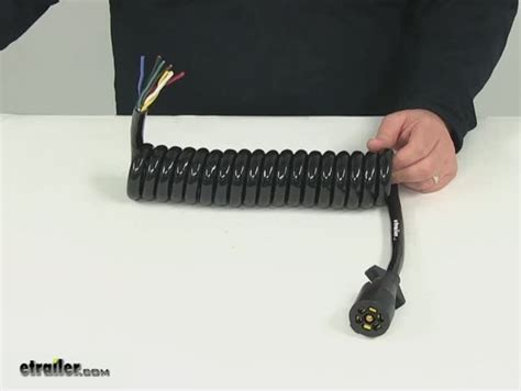 Bargman Way Style Connector Long Coiled Cable