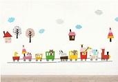 與可愛小動物一起坐小火車遊玩探險 「動物小世界-遊園小火車」壁貼 @ 水女孩居家生活創意壁貼介紹站 :: 痞 ...