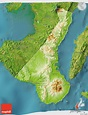 Physical 3D Map of Negros Oriental, satellite outside