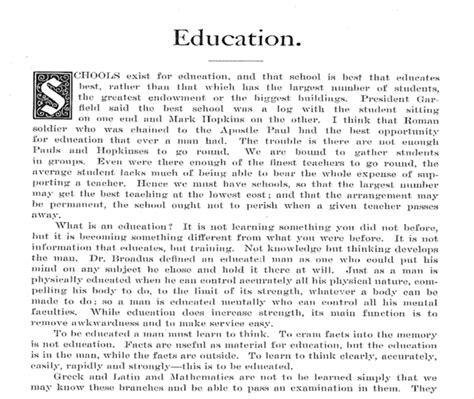 education  america essay    custom college