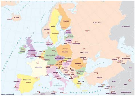 Carte Routière De L Europe 2017 by Exercices Website Accueil