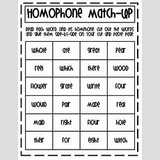 Homophone Match Uppdf  First Grade Reading Pinterest