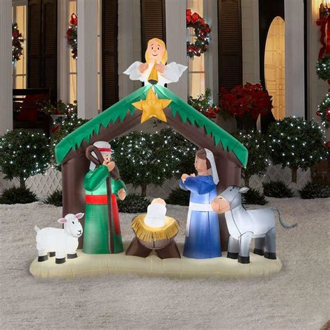 Garden Decorations Ebay by Nativity Decor Outdoor Garden