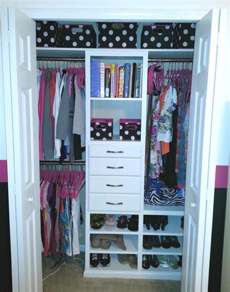 small reach in closet organization ideas korner