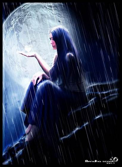 Rain Deviantart Paintings Fantasy
