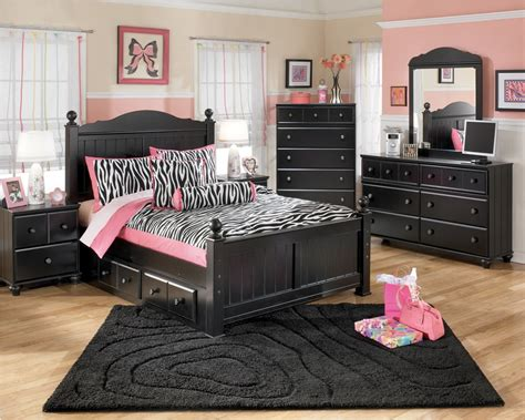 Modern Bedroom Design With Ashley Furniture Black Kids