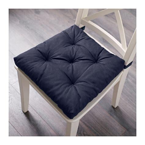 ikea 1 malinda chair cushion pad hook loop blue 38x40cm